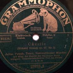 R.STRAUSS - SERENADE (GRAMMOPHON/GERMANY) - DISC PATEFON/GRAMOFON/Stare F.Buna - Muzica Clasica, Alte tipuri suport muzica