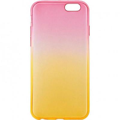 Capac Silicon Tellur pentru iPhone 6/6s Roz/Portocaliu foto