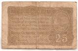 ROMANIA 25 BANI BGR 1917 U