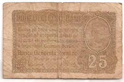 ROMANIA 25 BANI BGR 1917 U foto