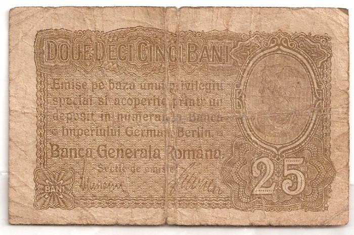 ROMANIA 25 BANI BGR 1917 U foto mare
