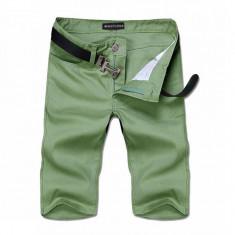 Pantaloni scurti din bumbac, calitate superioara - Bermude barbati, Marime: 36, Culoare: Verde