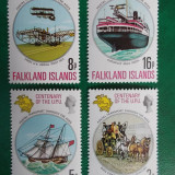 Falkland Isl. nave corabii avioane UPU - serie nestampilata MNH