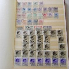 Cateva sute de timbre vechi Romania stampilate si nestampilate, in clasor