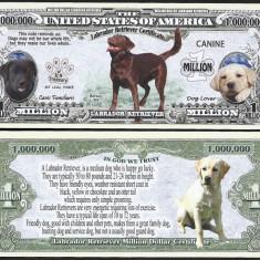 !!! SUA = FANTASY NOTE = LABRADOR RETRIEVER - 2016 - UNC / SERIA DOG LOVER - bancnota america