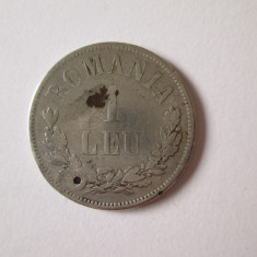 Moneda argint 1 Leu 1873 gaurita