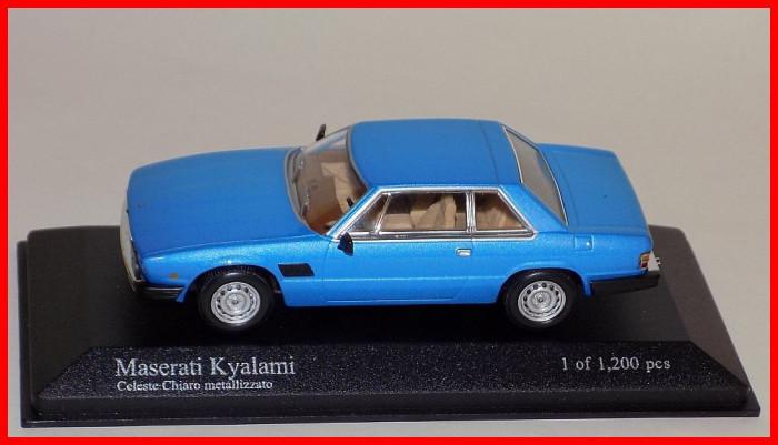 1982 - MASERATI KYALAMI (scara 1/43) MINICHAMPS foto mare