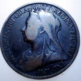 2.266 MAREA BRITANIE VICTORIA 1 ONE PENNY 1898, Europa, Cupru (arama)