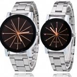 NOU Set 2 ceasuri dama barbat negru hexagon curea metalica GENEVA + cutie cadou - Ceas dama Geneva, Elegant, Quartz, Metal necunoscut, Analog