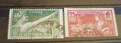 FRANTA 1924 – JOCURILE OLIMPICE PARIS, timbre stampilate AM61 foto