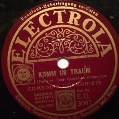 COMEDIAN HARMONISTS(1937/ELECTROLA/GERMANY) - DISC PATEFON/GRAMOFON/Stare F.Buna - Muzica Clasica, Alte tipuri suport muzica