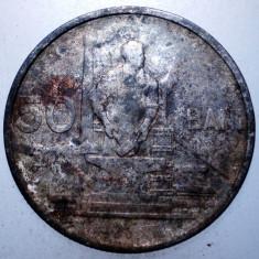 2.238 ROMANIA RPR 50 BANI 1955 - Moneda Romania, Cupru-Nichel