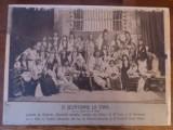 Fotografie originala carton 1913 Sibiu teatru popular costume nationale Saliste
