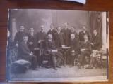 Fotografie originala carton 1897 comitet Sibiu prezidat de Victor Tordasianu