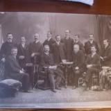 Fotografie originala carton 1897 comitet Sibiu prezidat de Victor Tordasianu, Alb-Negru, Portrete, Romania pana la 1900