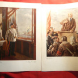 2 Reproduceri de Arta de Joules Perahim si St.Szonyi : VI Lenin si IV.Stalin - Reproducere