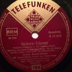 HAWAIIAN-POTPOURRI (TELEFUNKEN/GERMANY) - DISC PATEFON/GRAMOFON/Stare F.Buna - Muzica Clasica, Alte tipuri suport muzica