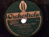 GOUNOD - MARGARETHE (ORCHESTROLA/GERMANY) - DISC PATEFON/GRAMOFON/Stare F.Buna