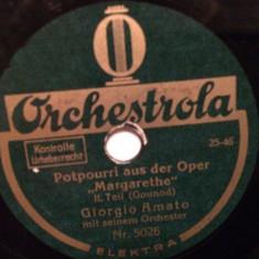 GOUNOD - MARGARETHE (ORCHESTROLA/GERMANY) - DISC PATEFON/GRAMOFON/Stare F.Buna - Muzica Clasica, Alte tipuri suport muzica