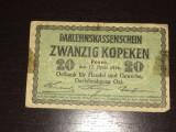 Bancnota 20 kopeken Germania 1916