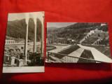 2 Ilustrate Bicaz- -Uzina Hidrocentralei VI Lenin si Fabrica de Ciment Tasca, Necirculata, Fotografie