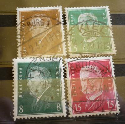 GERMANIA (REICH) 1928 – PRESEDINTI AI STATULUI,  timbre stampilate AM47 foto