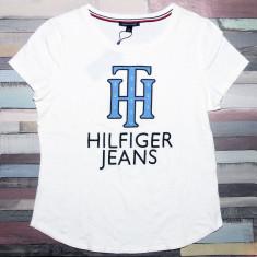 Tricou TOMMY HILFIGER - Tricouri Dama, Femei - 100% AUTENTIC - Tricou dama Tommy Hilfiger, Marime: M, Culoare: Din imagine, Simplu, Maneca scurta, Casual