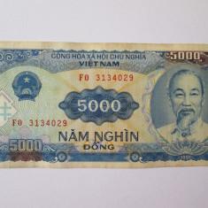 Vietnam 5000 Dong 1991 - bancnota asia