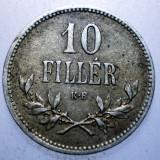 2.250 UNGARIA WWI 10 FILLER 1915, Europa, Cupru-Nichel