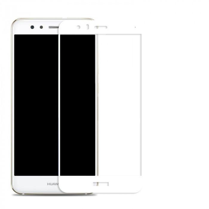 Huawei P10 Folie Sticla Securizata Tempered Glass Alba/White foto mare