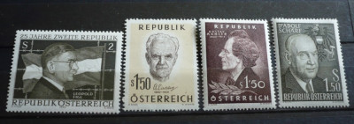 AUSTRIA – PERSONALITATI, serii complete nestampilate AM75 foto