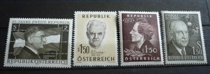 AUSTRIA – PERSONALITATI, serii complete nestampilate AM75 foto mare