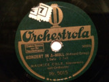 E.GRIEG - CONCERT 1,2 (ORCHESTROLA/GERMANY) - DISC PATEFON/GRAMOFON/Stare F.Buna, Alte tipuri suport muzica