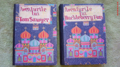 Aventurile lui Tom Sawyer si ale lui Huckleberry Finn-de Mark Twain (2 volume) foto