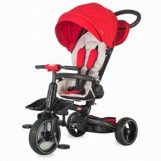 Tricicleta Coccolle Alto Multifunctionala Rosu - Tricicleta copii