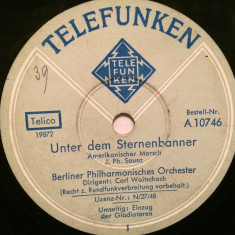 MARSCH - ENTRY OF.... (TELEFUNKEN/GERMANY) - DISC PATEFON/GRAMOFON/Stare F.Buna - Muzica Clasica, Alte tipuri suport muzica