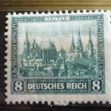 GERMANIA (REICH) 1930 – AJUTOR DE URGENTA, CLADIRI, timbru cu SARNIERA, AM61, Nestampilat