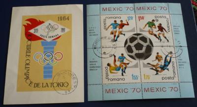 ROMANIA 1964/1970 ? SPORT, colite stampilate, AM56 foto