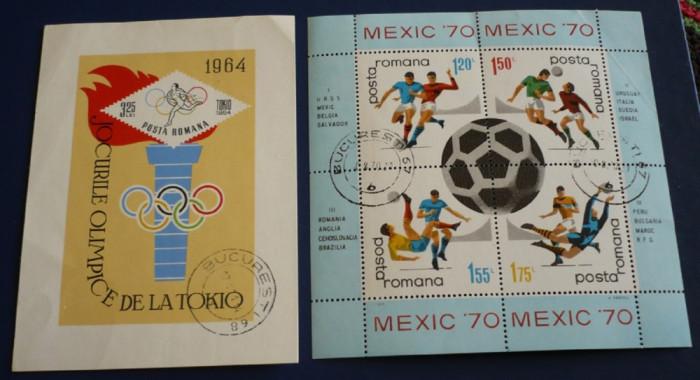 ROMANIA 1964/1970 ? SPORT, colite stampilate, AM56