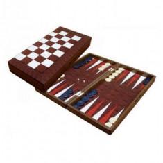 Set Joc de table lemn lacuit zaruri puluri plastic inchidere magnetica 48x24 cm - Set table