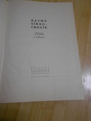 BASME SARBO-CROATE - 1965 foto