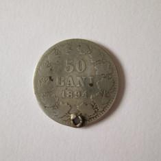 Moneda argint 50 Bani 1894 gaurita - Moneda Romania