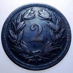 F.185 ELVETIA 2 RAPPEN 1851, Europa, Bronz