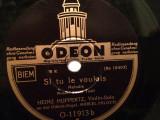 A PERFECT DAY/SI TU LE......(ODEON/GERMANY) - DISC PATEFON/GRAMOFON/Stare F.Buna