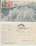 Simeria jud Hunedoara ilustrata rara 1928 timbre TCV gara, Circulata, Printata