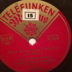 WEISS-FERDL & DIETRICH (TELEFUNKEN/GERMANY) - DISC PATEFON/GRAMOFON/Stare F.Buna - Muzica Clasica Altele, Alte tipuri suport muzica