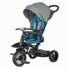 Tricicleta Coccolle Alto Multifunctionala Albastru - Tricicleta copii