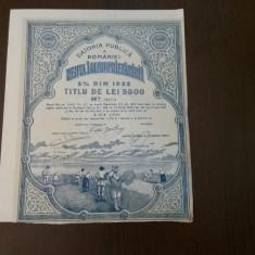 Obligatiune Renta improprietaririi 1922, 5000 lei, rar