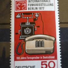 GERMANIA (BERLIN) 1977 – TELEFOANE DE EPOCA SI MODERNE, serie nestampilata AM73