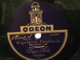 VERDI - RIGOLETTO-FANTASIE (ODEON/GERMANY) - DISC PATEFON/GRAMOFON/Stare F.Buna, Alte tipuri suport muzica